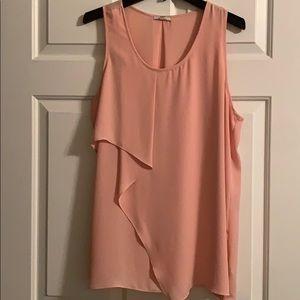 Peach Dressy Tunic Tank Top